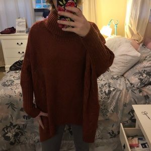 4/$25 Rust Oversized Sweater